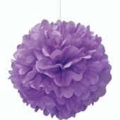Purple Honeycomb Hanging Decoration Puff Ball