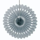 Silver Hanging Decorative Honeycomb Fan