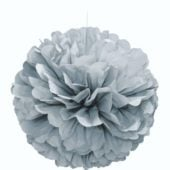 Silver Honeycomb Hanging Decoration Puff Ball