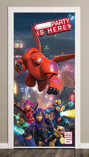 big-hero-6-party-is-here-door-poster