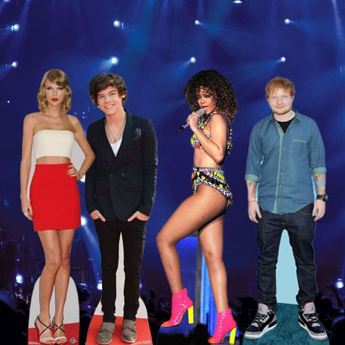 Music and Pop Star Cardboard Cutouts