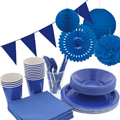 Royal Blue plain tableware