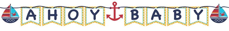 Ahoy Matey Ribbon Jointed Letter Banner - 1.7m / 170cm