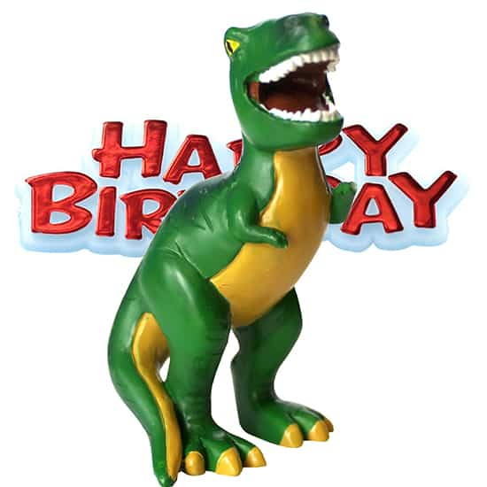 Dinosaur and Happy Birthday Cake Topper