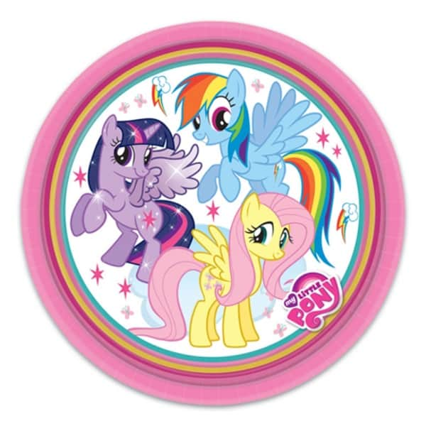 My Little Pony Round Paper Plate 9 Quot 23cm Partyrama Co Uk