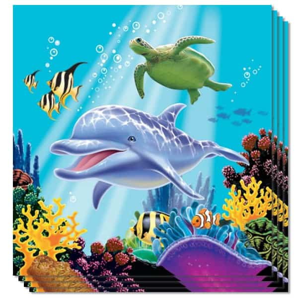 Ocean Party 3 Ply Luncheon Napkins - 13 Inches / 33cm - Pack of 16