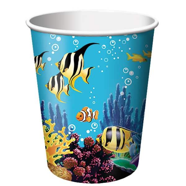 Ocean Party Paper Cup - 9oz / 266ml