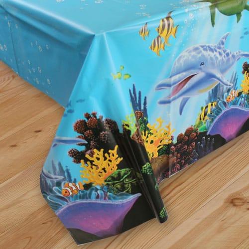 Ocean Party Plastic Tablecover - 137cm x 274cm