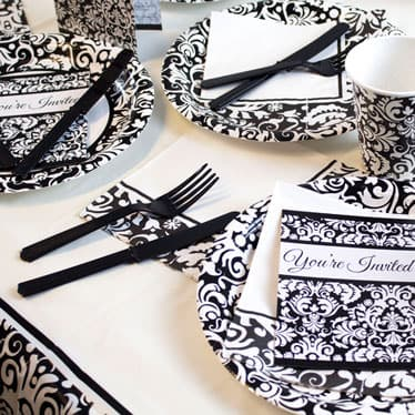 Black Damask Theme