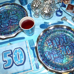 Blue Glitz 50th Birthday