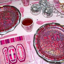 Pink Glitz 100th Birthday