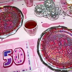 Pink Glitz 50th Birthday