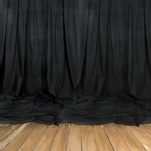 Real Heavy Duty Black Backdrop - Decomolton 300gsm - 3m Drop - Sold by the Meter
