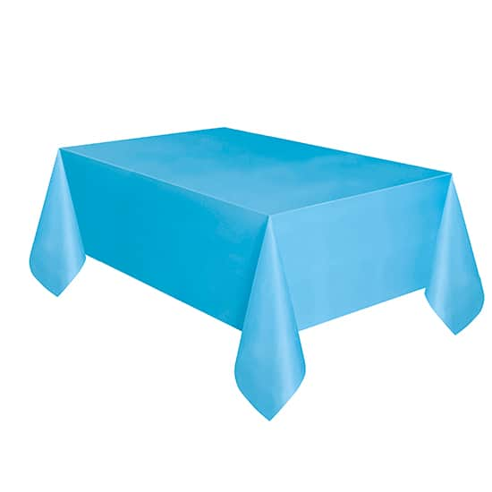 Powder Blue Plastic Tablecover - 137cm x 274cm