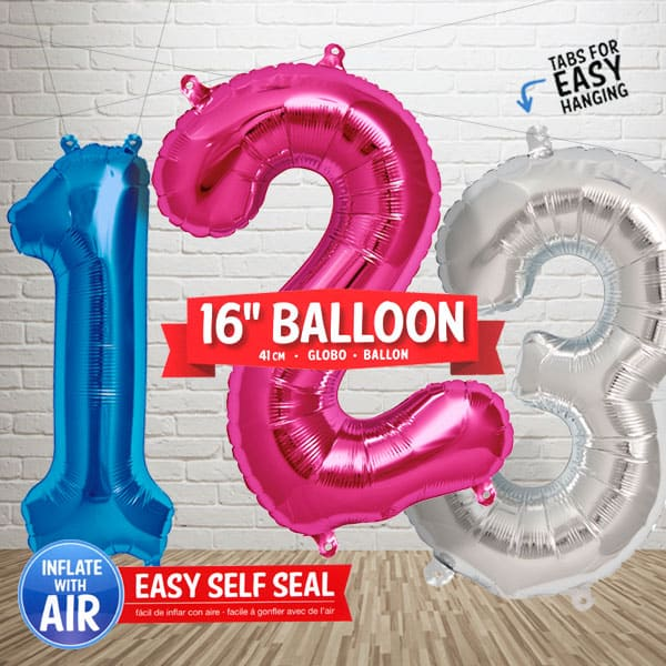 16 Inch Number Balloons Category Image
