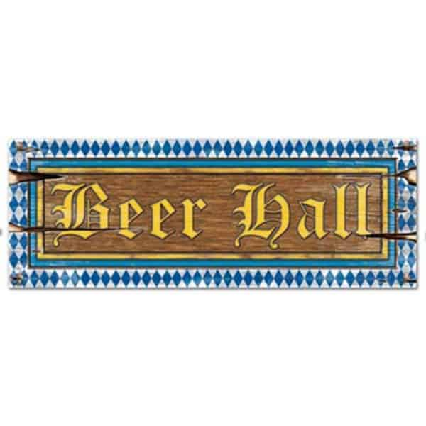 Beer Hall Decorative Sign - 22 Inches / 56cm