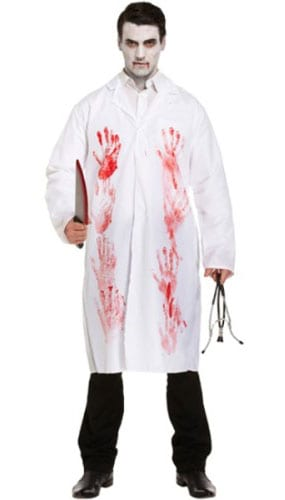 Bloody Doctor Costume Adults Fancy Dress