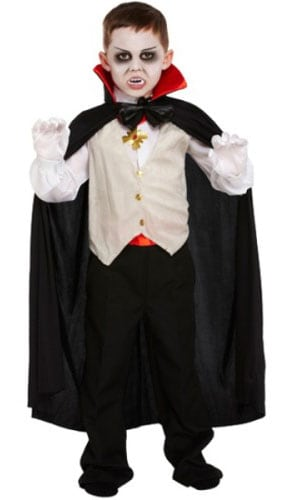 Classic Vampire Costume 10 - 12 Years Childrens Fancy Dress Product Image