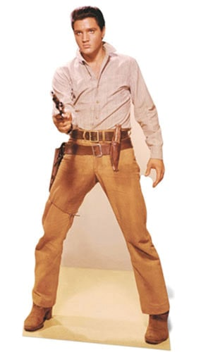 Elvis Gunfight Lifesize Cardboard Cutout - 189cm Product Gallery Image