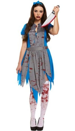 7a062956909 Horror Alice Costume Large Adults Fancy Dress