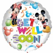 Mickey And Minnie Get Well Foil Helium Balloon 43cm / 17Inch