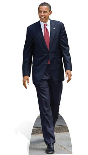 President Obama Lifesize Cardboard Cutout - 180cm