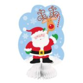 Santa Honeycomb Decoration – Pack of 3
