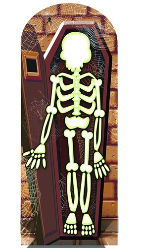 Skeleton Stand In Cardboard Cutout - 180cm Product Gallery Image
