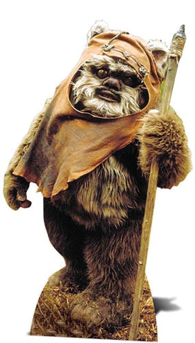Star Wars Wicket Lifesize Cardboard Cutout - 94cm Product Gallery Image