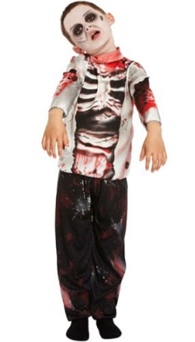 Zombie Costume 4 - 6 Years Childrens Fancy Dress