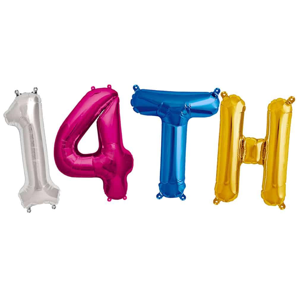 14th Birthday Balloons Partyrama Co Uk