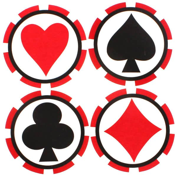 Casino Themed Coasters - Pack of 8