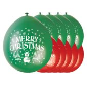 Merry Christmas Biodegradable Latex Balloons – 9 Inches / 23cm – Pack of 10