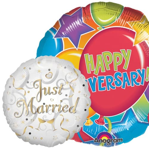Wedding, Anniversary and Engagement Balloons