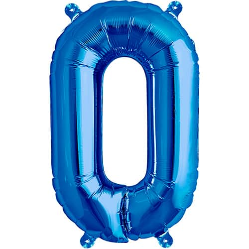 Blue Air Fill Foil Balloon Letter O - 16 Inches / 41cm Product Image