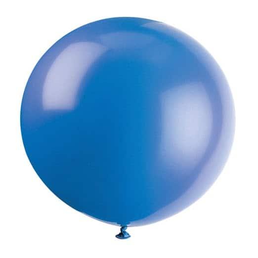 Evening Blue Jumbo Biodegradable Latex Balloon - 91cm
