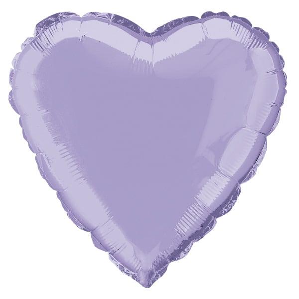 Lavender Heart Foil Helium Balloon 46cm / 18Inch
