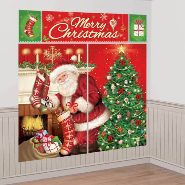 Merry Christmas Backdrop Decorating Kit