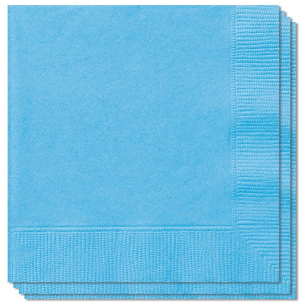 Powder Blue 2 Ply Napkins - 33cm - Pack of 100