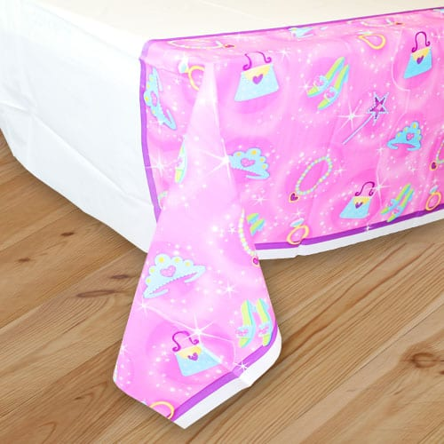 Prismatic Princess Plastic Tablecover - 137cm x 259cm
