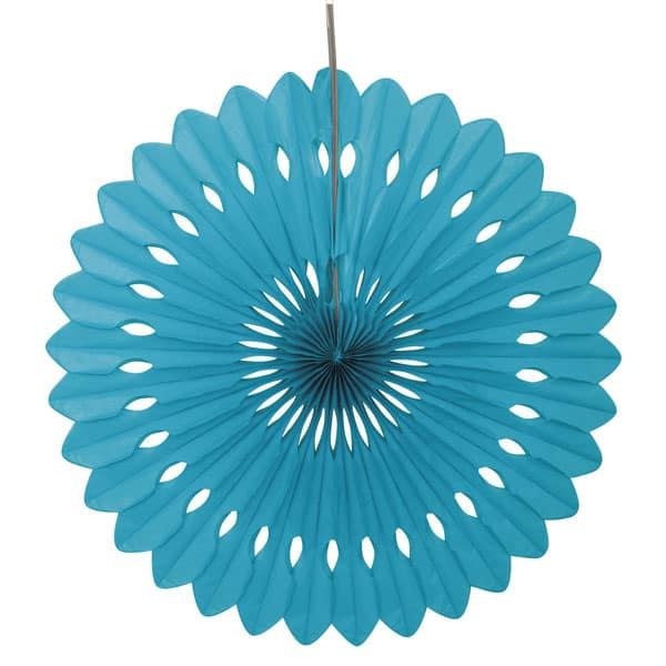Caribbean Teal Decorative Honeycomb Fan Product Image