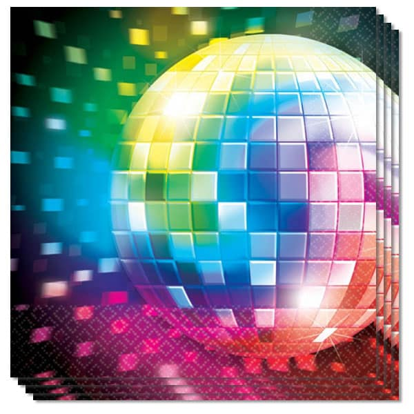 Disco Party Luncheon Napkins 2 Ply Pack of 16