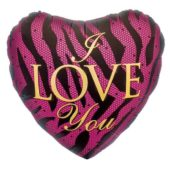 I Love You Heart Shaped Foil Helium Balloon 46cm / 18Inch
