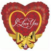 I Love You Heart Shape Foil Helium Balloon 55cm / 22Inch