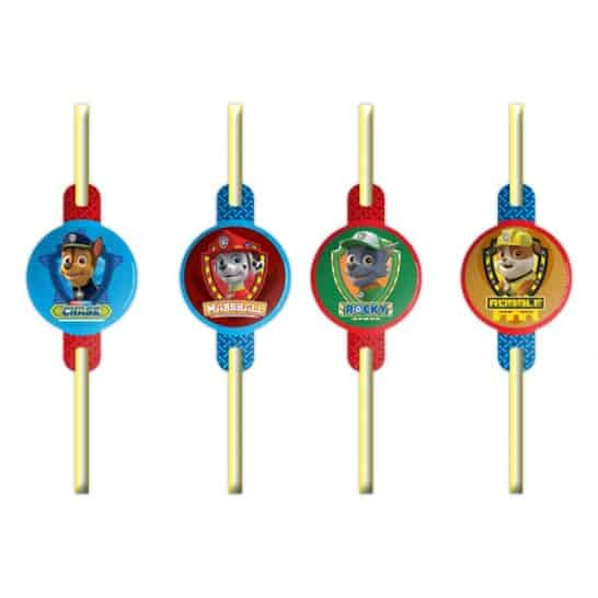 paw-patrol-drinking-straws-pack-of-8-product-image