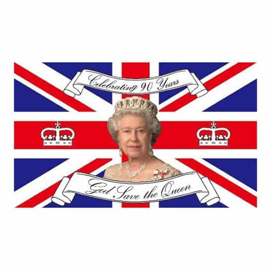 Queen 90th Birthday Celebration Flag - 152cm x 91cm