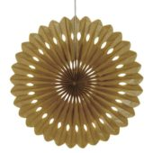 Gold Decorative Honeycomb Fan