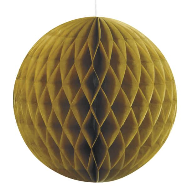 Gold Honeycomb Hanging Decoration Ball 20cm Product Image