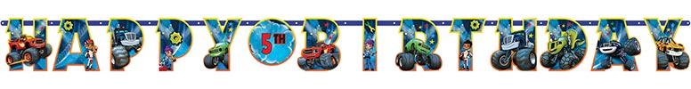 Blaze Customised Jointed Letter Banner - 320cm