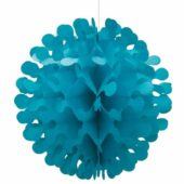 Caribbean Teal Honeycomb Hanging Decoration Flutter Ball – 30 cm